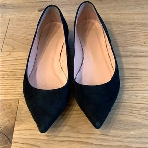 Jcrew Pointed-toe flats in suede size 8